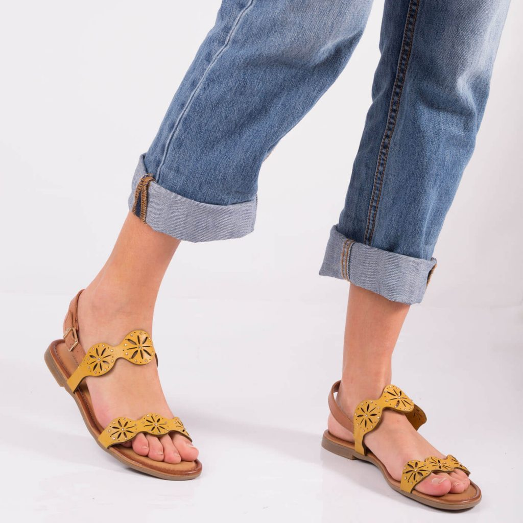 sandale dama piele